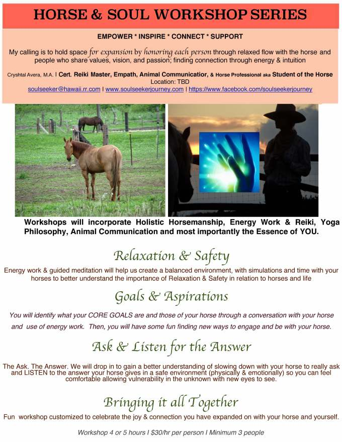 Horse and Soul Workshop Series Flyer